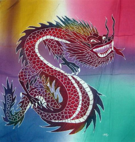 18 best dragons images on pinterest japanese dragon asian batik painting from indonesia flying dragon 18 quot by