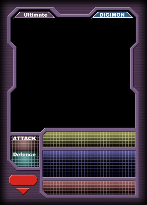 sci fi card frame template digimon ccg ultimate blank by blademanunitpi on deviantart