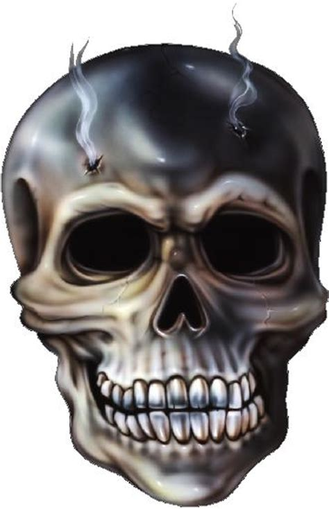 Skull With Bullet Holes Decal Sticker Skull With Bullet