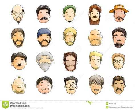 diversi tipi di barba tipi con l illustrazione della barba nessuna rasatura