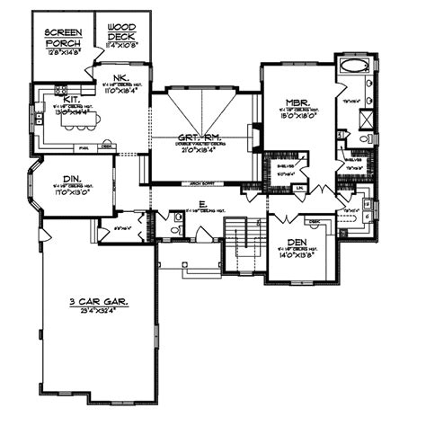 executive ranch floor plans chapparal luxury ranch home plan 051s 0064 house plans