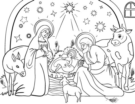nativity coloring page pdf printable nativity coloring page free pdf download at