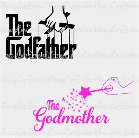 Godmother And Godfather Svg Dxf Eps Png Digital File Filing Cricut And Farewell Gifts Will You Be My Godmother Free Template