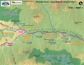 map of arkansas river in colorado arkansas river map bighorn sheep colorado