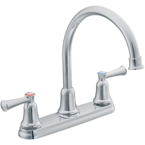 moen double handle kitchen faucet repair moen cfg 41611 two handle high arc kitchen faucet