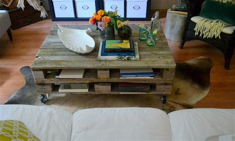 pallet coffee table modern magazin