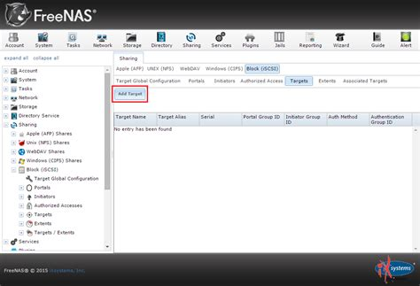 iscsi target how to create an iscsi target with freenas the solving