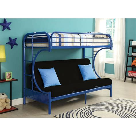 bunk beds twin over queen acme furniture eclipse twin over queen metal bunk bed