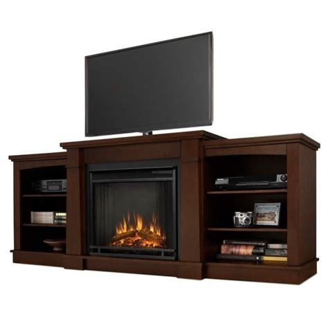 Tv Stands With Electric Fireplace Real Hawthorne Electric Fireplace Tv Stand In Espresso 2222e De