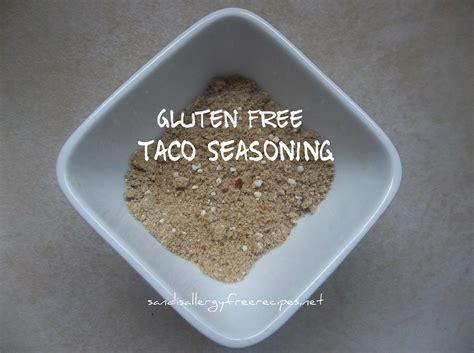 taco seasoning gluten free sandi s allergy free recipes