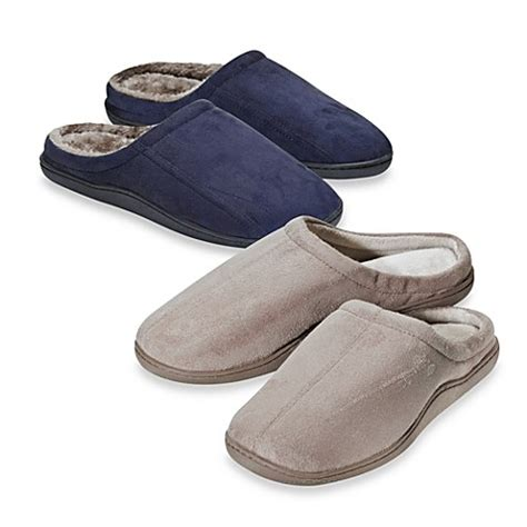 bed bath and beyond slippers memory foam men s slippers bed bath beyond
