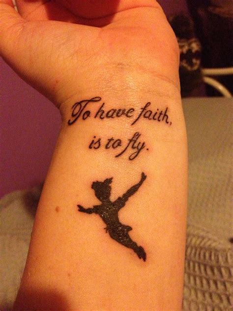peter pan tattoo quotes tumblr peter pan tattoo to have faith is to fly tattoos