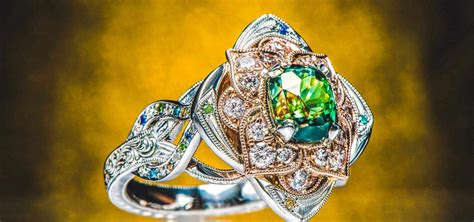 Jewelry Engagement Rings by Design Your Own Engagement Ring Custom Jewelry Green