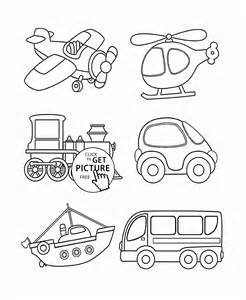 transportation coloring toddlers coloring pages printables free wuppsy