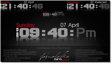rainmeter themes clock info clock 2013 2020 by fajnalaska on deviantart