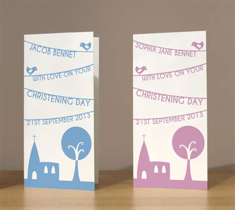 Baptism Gift Card - christening cards personalised church banner christening cards