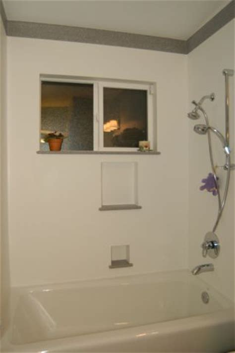 bathtub surround with window seamless showers enclosures sacramento frameless bathroom