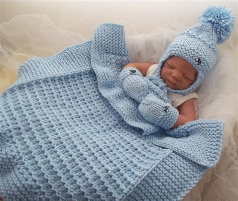 Modern Baby Blanket Knitting Patterns by Baby Chunky Knitting Patterns To Crochet And Knit