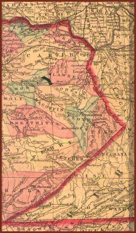 kentucky map eastern map eastern kentucky