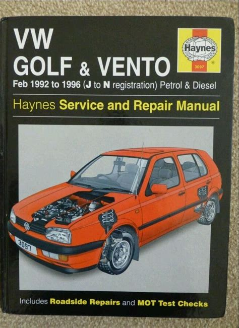 car engine repair manual 1995 volkswagen golf iii on board diagnostic system haynes vw golf mk3 gti vento owners handbook manual service book cars car
