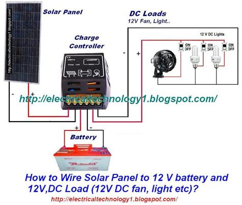 V Connection Ready how to wire solar panel to 12v battery and 12v dc load solar and survival