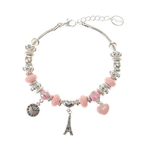 Eiffel Tower Bracelet silver eiffel tower barrel charm bracelet s