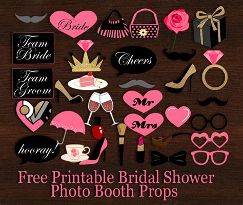 Bridal Shower Photo Booth free wedding photo booth props template wedding dress