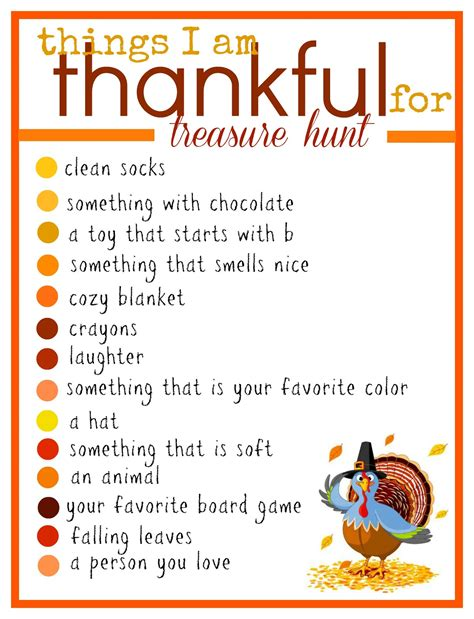 8 Things Im Thankful For by A Thanksgiving Treasure Hunt A And A Glue Gun