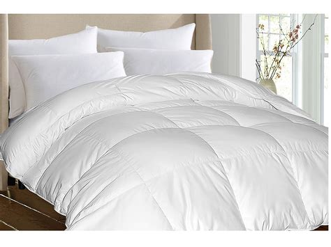 Goose Feather Comforter royal luxe damask stripe white goose white goose feather comforter king shipped free at