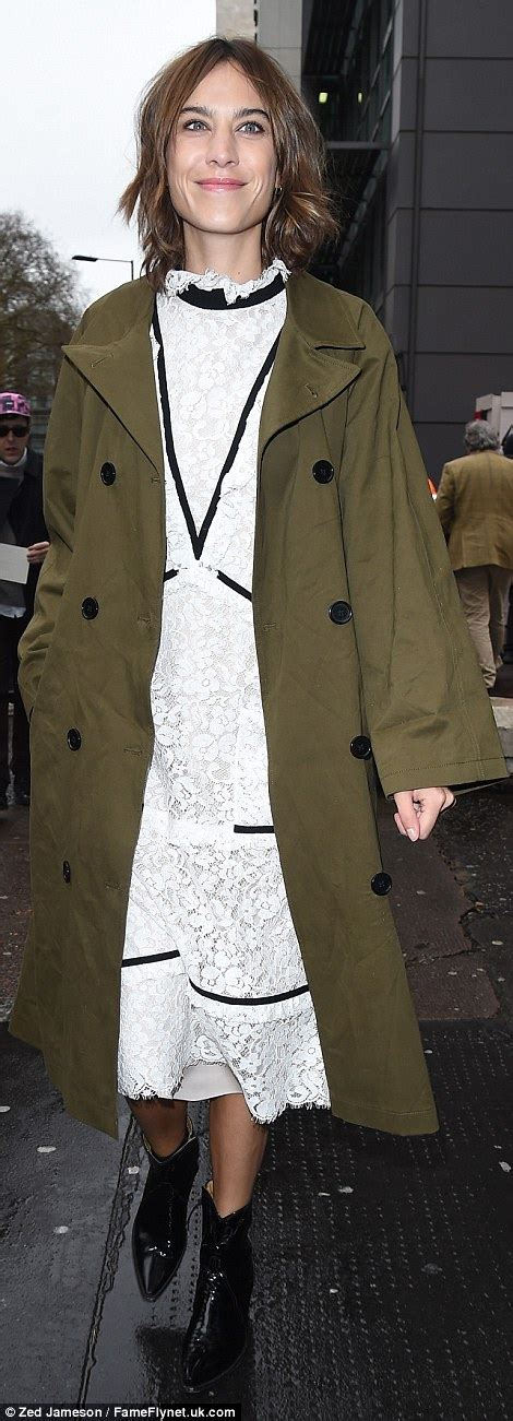 Spencer House London Alexa Chung In Lace Midi Dress At Erdem S London Fashion