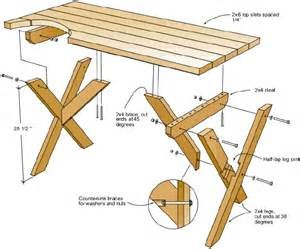 a little bit of this that and everything diy picnic table blueprint