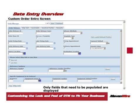 manager layout in otm customizing the look and feel of otm to fit your business