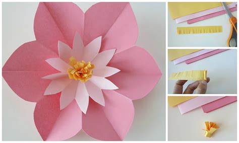How To Make A Flower In A Paper - ashlee designs paper flower tutorial