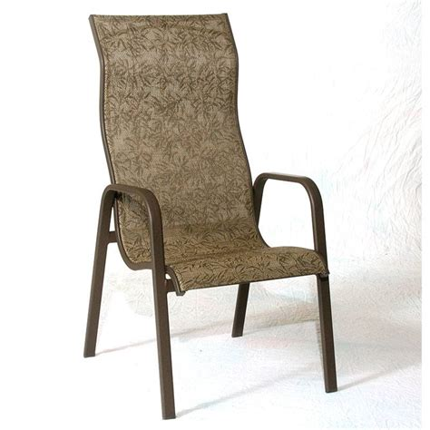 Stacking Sling Chair by Siesta High Back Stacking Sling Chair