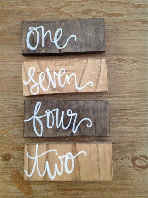 Wooden Table Numbers Wedding by Wooden Rectangle Free Standing Wedding Or Event Table
