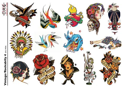 temporary tattoos omg vintage and rockabilly 4 omg