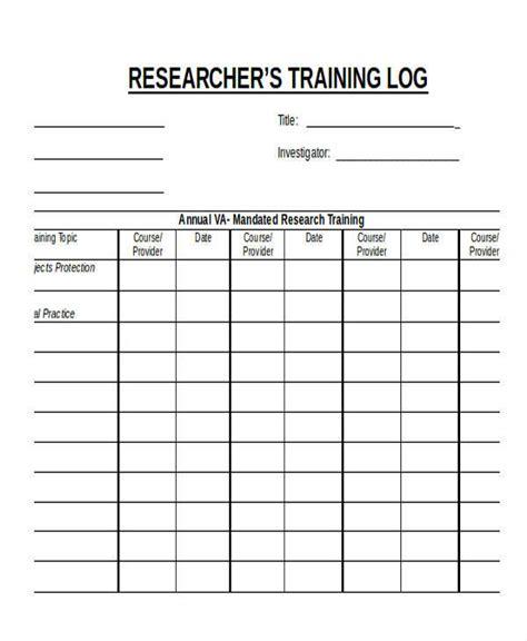 9 research log sles templates pdf doc