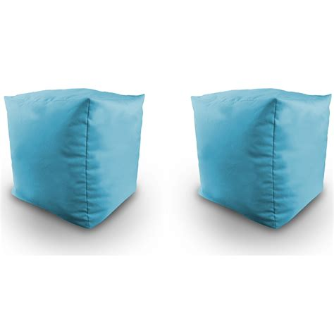 water resistant bean bag chairs filled bean bag cube 2pk indoor outdoor water resistant