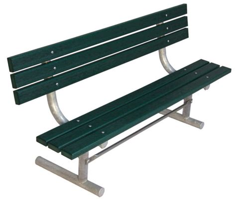 plastic park bench ends canada ultrasite 6 ft commercial recycled plastic bench w back
