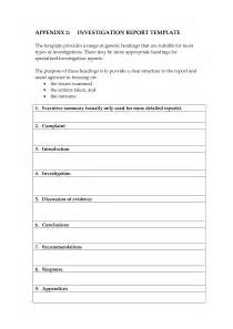 Investigation Template by Investigative Report Template Aplg Planetariums Org