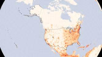 us population density heat map united states population density image of the day