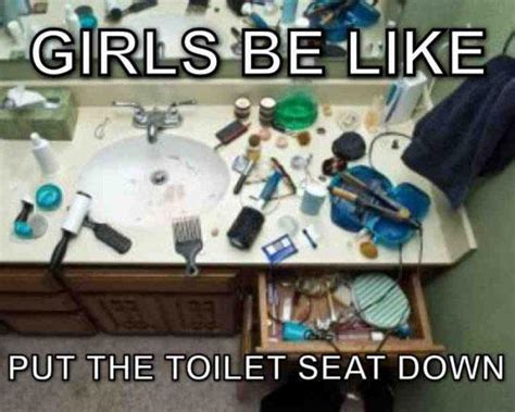 Toilet Seat Down Meme - put the toilet seat down women logic know your meme