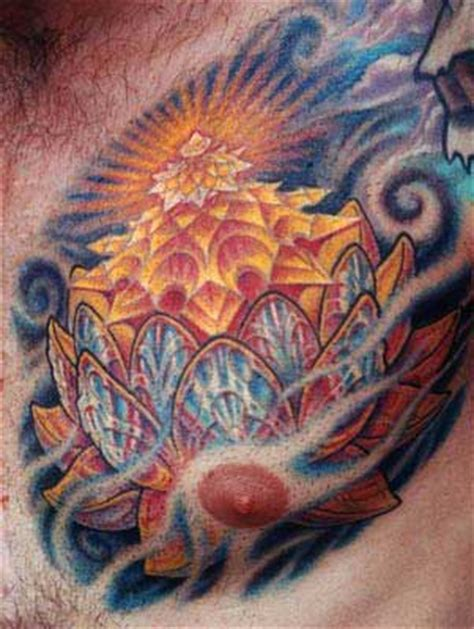 lotus tattoo guy lotus chest by guy aitchison tattoo inspiration worlds