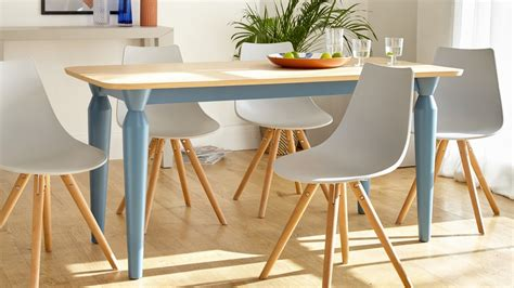 6 Seater Oak Dining Table And Chairs 6 Seater Oak And Powder Blue Dining Table Uk