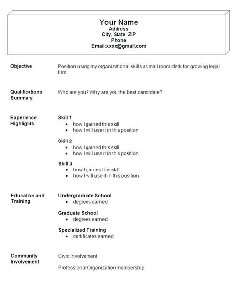 resume structure examples military bralicious co