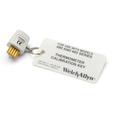 Welch Allyn Suretemp Plus 692 Patient Therm 01692 200 4ft Probe 06138 000 welch allyn calibration key assembly for 690 692