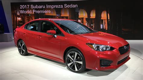 2017 subaru impreza sedan 2017 subaru impreza sedan and hatch debut at new york auto