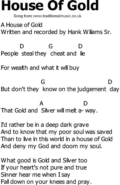 house of gold lyrics chords for house of gold gnewsinfo com