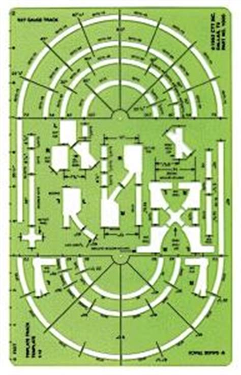 model railroad track templates track template for o and o 27 track o scale by ctt 1000