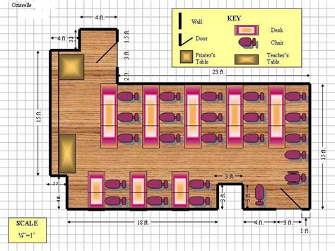 create classroom floor plan draft a cad drawing using ms powerpoint windows xp
